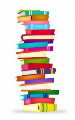 Library clipart book stack
