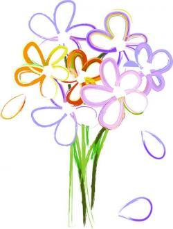 Daisy clipart flower bunch
