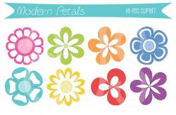 Petal clipart modern flower