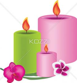 Candle clipart spa