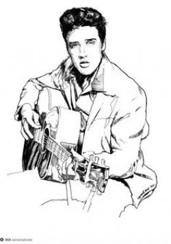 Elvis Presley clipart Easy Elvis Presley Drawing