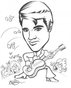 Elvis Presley clipart Elvis Presley Coloring Pages