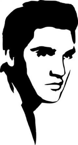 Elvis Presley clipart Elvis Presley Stencil