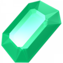 Crystal clipart emerald