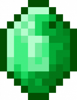 Emerald clipart minecraft