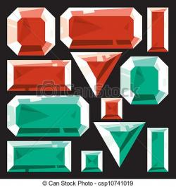 Emerald clipart ruby