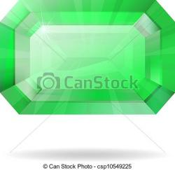 Emerald clipart vector