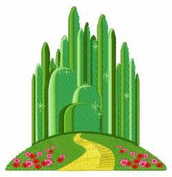 Cityscape clipart emerald city