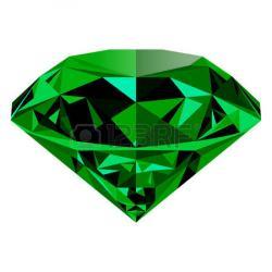 Stone clipart emerald green