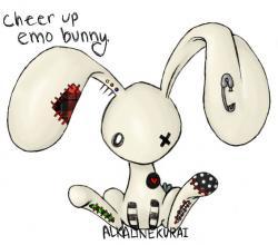 Emo clipart bunny
