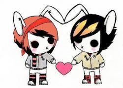 Emo clipart love