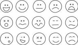 Emotions clipart black and white