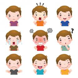 Emotional clipart different emotion