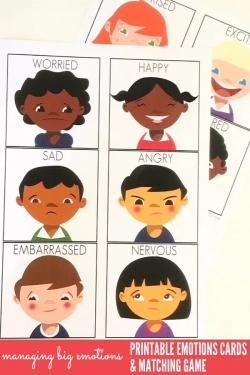 Feelings clipart matching game