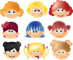 Emotional clipart funny kid