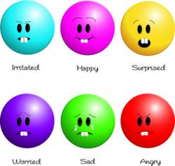 Feelings clipart happy sad face