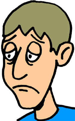 Emotional clipart sad guy