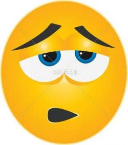Emotional clipart tired face