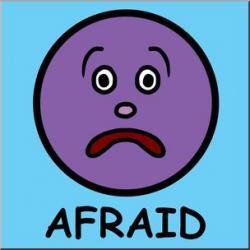 Emotions clipart afraid