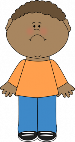 Scary clipart child sad