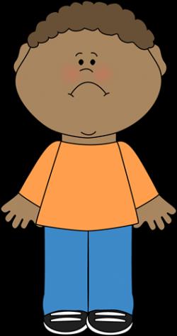 Sadness clipart sad little boy
