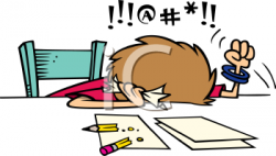 Geometry clipart frustrated student