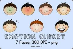 Emotions clipart boy face