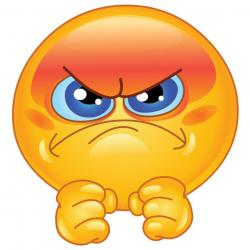 Smiley clipart upset