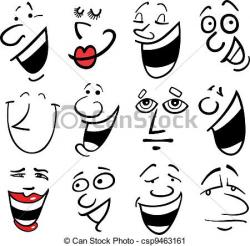 Emotions clipart cartoon face