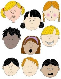 Emotions clipart childrens faces