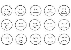 Feelings clipart coloring page