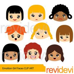 Feelings clipart childrens faces
