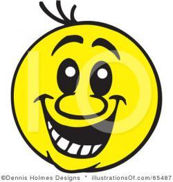 Weird clipart smiley face