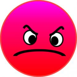 Emotions clipart grumpy face
