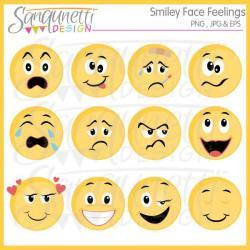 Feeling clipart happy sad face