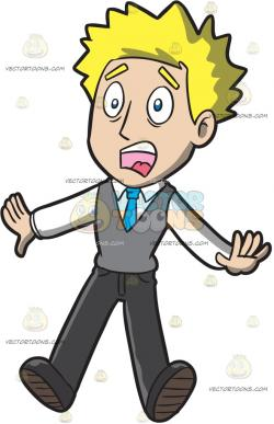 Shocking clipart shocked man