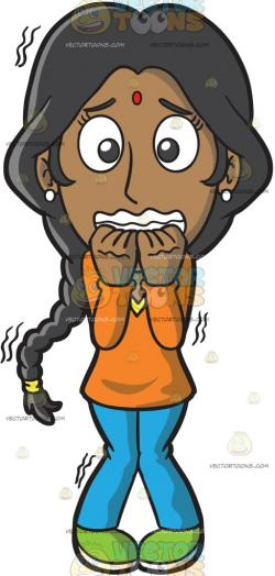 Fear clipart nervous woman