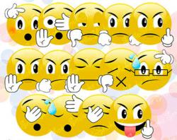 Emotions clipart printable