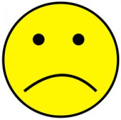 Smiley clipart unhappy