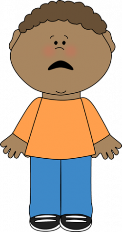 Little Boy clipart scared boy