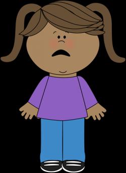 Little Girl clipart afraid