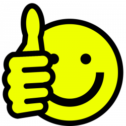 Smiley clipart thumbs up