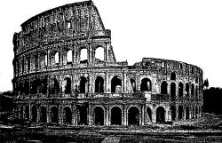 Colosseum clipart ancient city