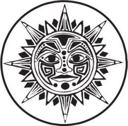 Triipy clipart aztec sun