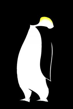 Drawn penguin emperor penguin