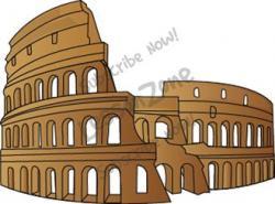 Colosseum clipart roman empire