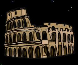 Rome clipart colosseum