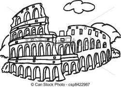 Colosseum clipart rome drawing
