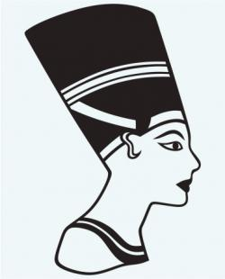 Egyptian Queen clipart black and white