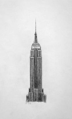 Drawn bulding  empire state building